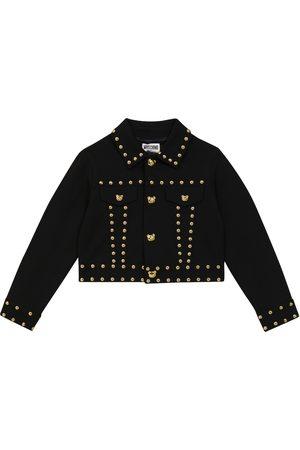 Moschino Kids Teddy-studded denim jacket