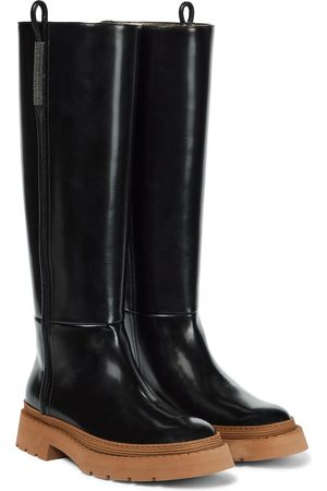 Brunello Cucinelli Patent leather knee-high boots