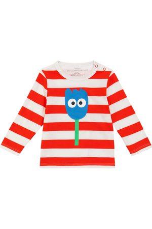 Stella McCartney Baby printed striped organic cotton top