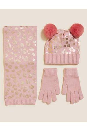 Girls Gloves - Kids' Leopard Hat, Scarf and Glove Set (12 Mths