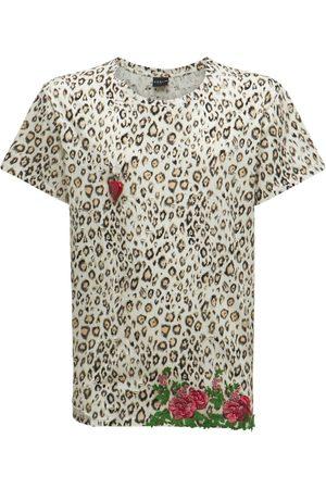 COOL TM Cotton Leopard Lace Printed T-shirt