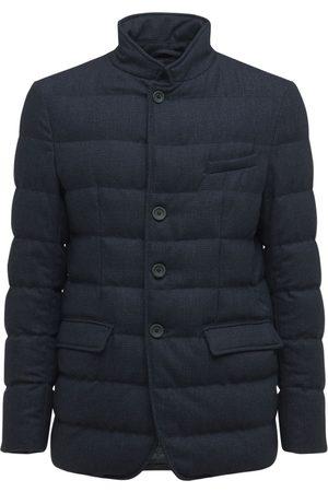 HERNO Wool Blend Flannel Down Jacket
