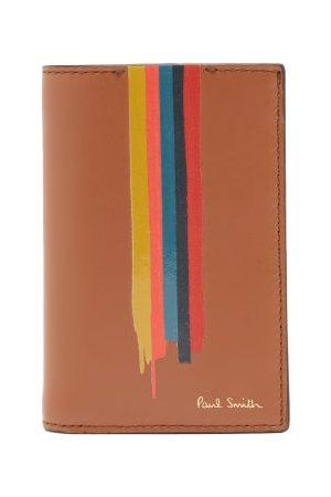 Paul Smith Artist-stripe Leather Bi-fold Wallet - Mens
