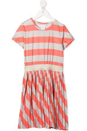HUGO BOSS Girls Casual Dresses - Striped pleated skater dress