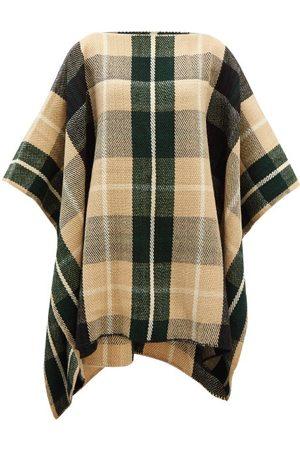 Colville Women Ponchos & Capes - Windowpane-check Wool Poncho - Womens - Multi
