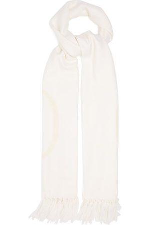 VALENTINO GARAVANI Women Scarves - V-logo Wool-blend Twill Scarf - Womens