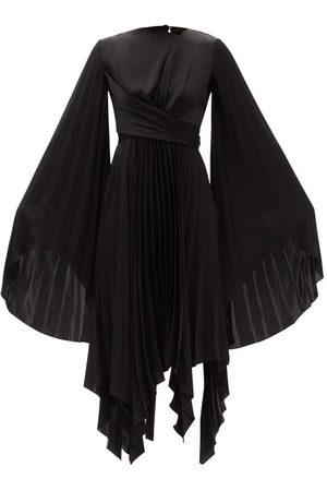 A.W.A.K.E. MODE Asymmetric Pleated Crepe Dress - Womens