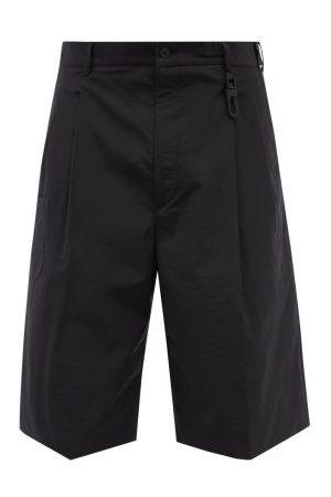 Fendi Logo-embroidered Cotton-blend Bermuda Shorts - Mens