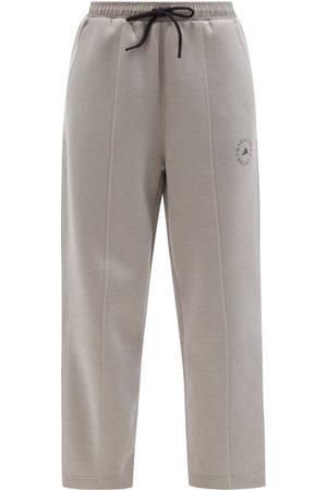 adidas Tl Jersey Straight-leg Track Pants - Womens - Grey