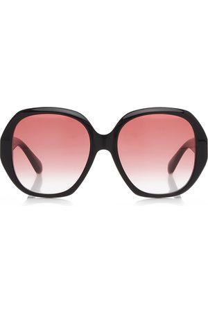 Gucci Women's Oversized Round-Frame Acetate Sunglasses - /brown - Moda Operandi