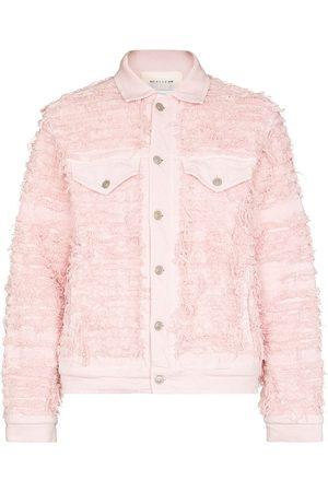 1017 ALYX 9SM Men Denim Jackets - X Blackmeans distressed denim jacket