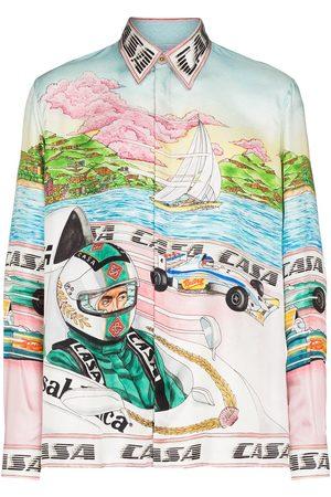 Casablanca Men Shirts - Art of Racing print shirt