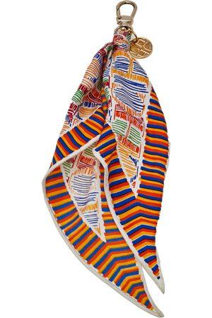 CH Carolina Herrera Logo Print Scarf Bag Charm