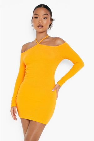 Boohoo Womens Petite Recycled Halter Bardot Mini Dress - - 2