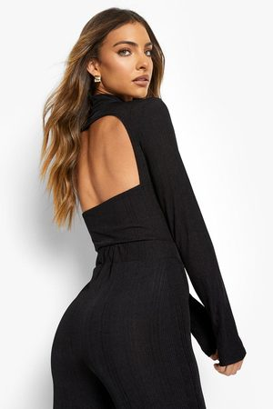 Boohoo Womens High Neck Cut Out One Piece - - 2