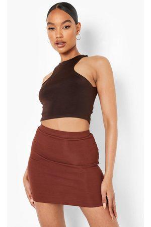 Boohoo Womens Recycled Mini Ribbed Tube Skirt - - 2