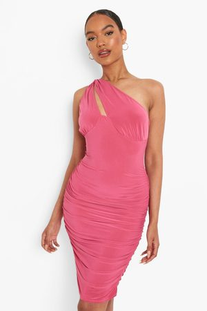 Boohoo Womens One Shoulder Cut Out Mini Dress - - 2