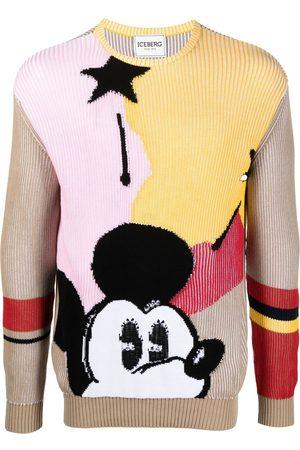 Iceberg Mickey Mouse crew-neck jumper - Neutrals