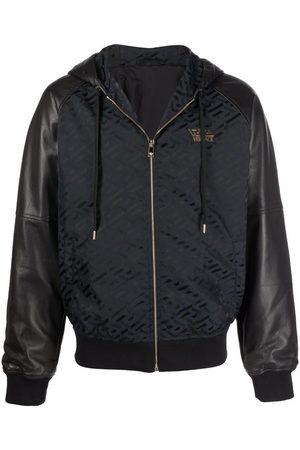 Versace Men Jackets - Greca panelled hooded jacket