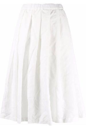 Comme des Garçons Women Midi Skirts - Asymmetric pleated midi skirt