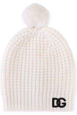Dolce & Gabbana Boys Beanies - Chunky knit wool beanie