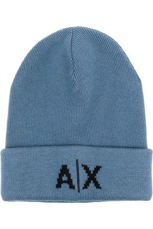 Armani Exchange Logo knit beanie