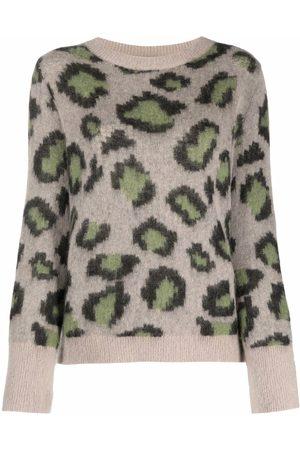 Luisa Cerano Women Sweaters - Leopard-print jumper - Neutrals