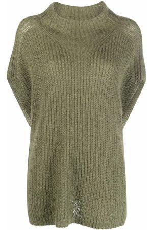 Luisa Cerano Women Tank Tops - Purl-knit mock-neck vest