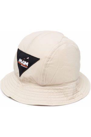 MSGM Logo-patch bucket hat - Neutrals