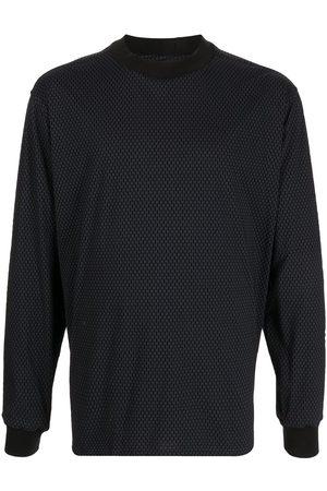 Giorgio Armani Men Long Sleeve - Geometric-print long-sleeve T-shirt