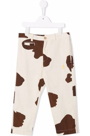 The Animals Observatory Cow-print slim-cut trousers