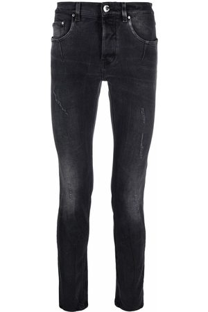 Les Hommes Distressed skinny jeans - Grey