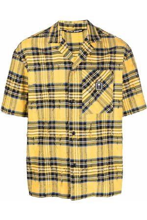 Palm Angels Palm patch plaid shirt