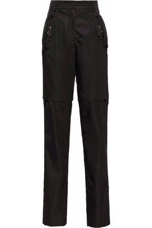Prada Women Straight Leg Pants - Re-Nylon convertible trousers