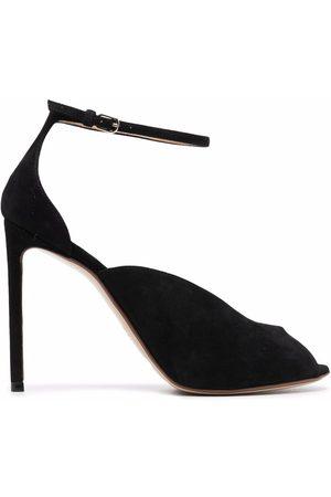 Francesco Russo Suede peep-toe pumps