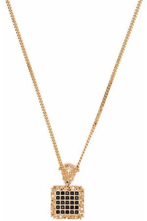 VERSACE Medusa -plated crystal-embellished necklace