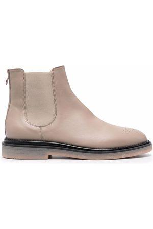 AGL ATTILIO GIUSTI LEOMBRUNI Perforated Chelsea boots - Neutrals