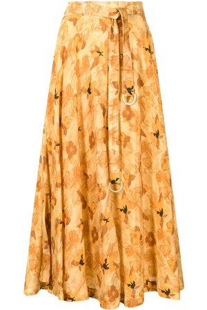 REJINA PYO Floral-print tied-waist skirt