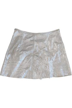 R13 Leather mini skirt