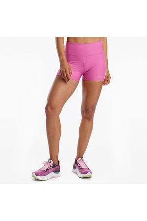 "Saucony Women Shorts - Women's Fortify 3"" Hot Short PurpleOrchid"