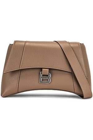 Balenciaga Small Soft Hourglass Shoulder Bag in Grey,Taupe