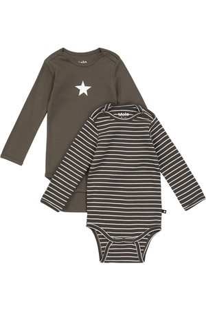 Molo Baby two-pack long-sleeve rompers
