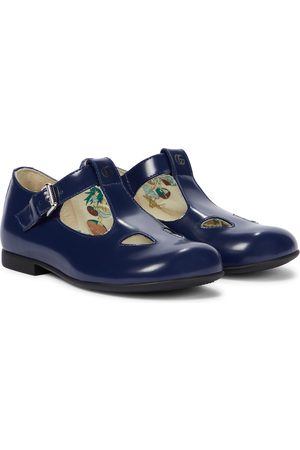 Gucci Kids Baby Double G leather ballet flats