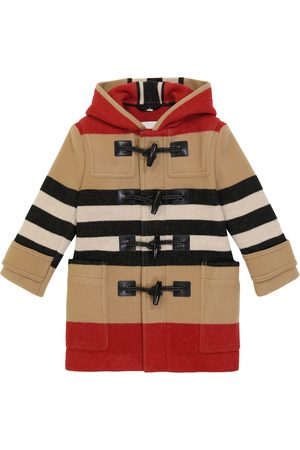 Burberry Kids Channing striped coat