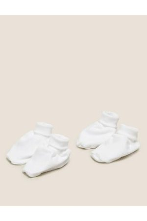 2 Pack Pure Cotton Booties (0-12 Mths)