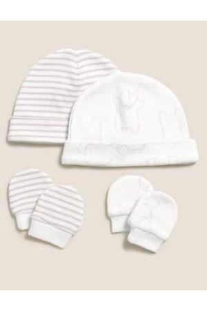 2pk Premature Hats & Mittens Set (3lbs-4lbs)