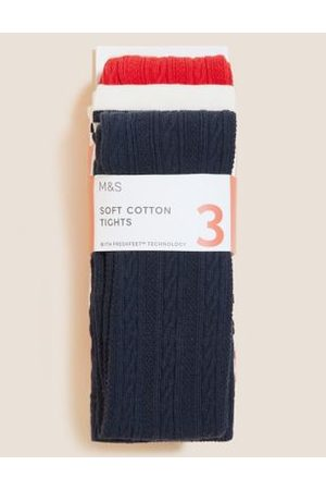3pk Cotton Tights (2-14 Yrs)