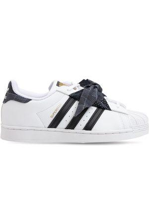 adidas Superstar Leather Sneakers W/ Bandana