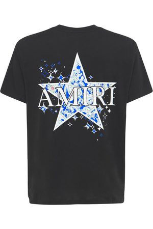 AMIRI Men T-shirts - Paisley Star Cotton Jersey T-shirt