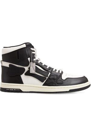 AMIRI Bones High-top Leather Sneakers